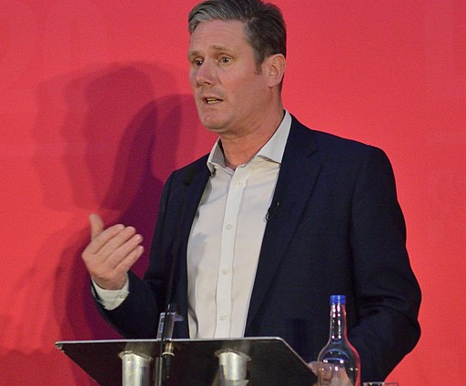 Keir Starmer during the Labour leadership election 2020