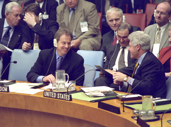 Tony Blair & Bill Clinton at the UN Security Council