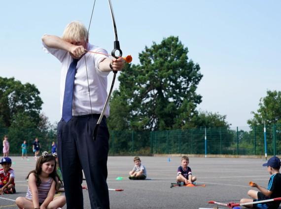 Boris Johnson at a summer camp