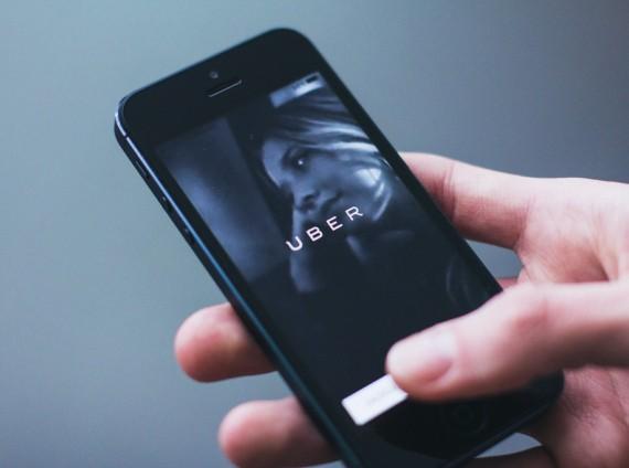 The Uber iphone app