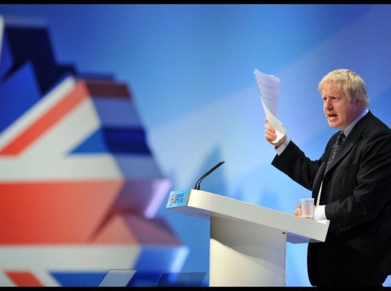 Boris Jhonson at Conservative party conference