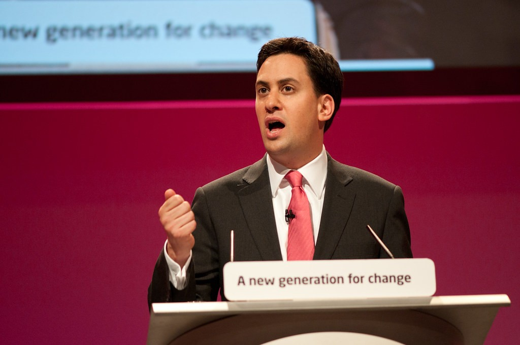 Ed Miliband speaks at Labour conference 2010