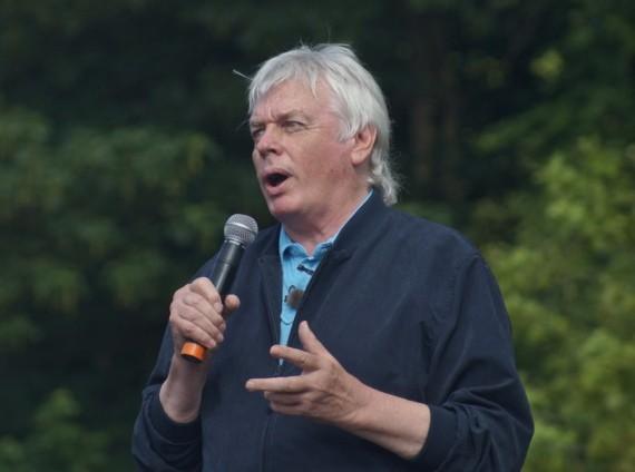 David Icke at a rally