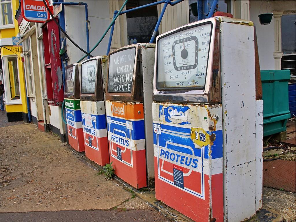 Dead Petrol Station - Stockbridge U.K